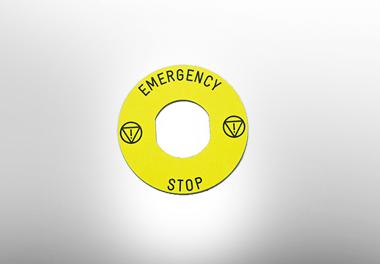 Emergency stop legend
