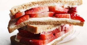 strawberries and cream sandwich wimbledon