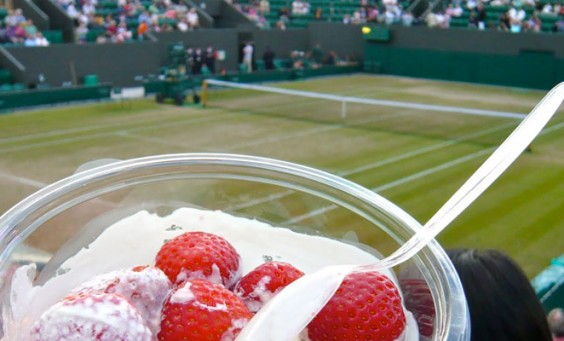 Strawberries and cream at wimbledon