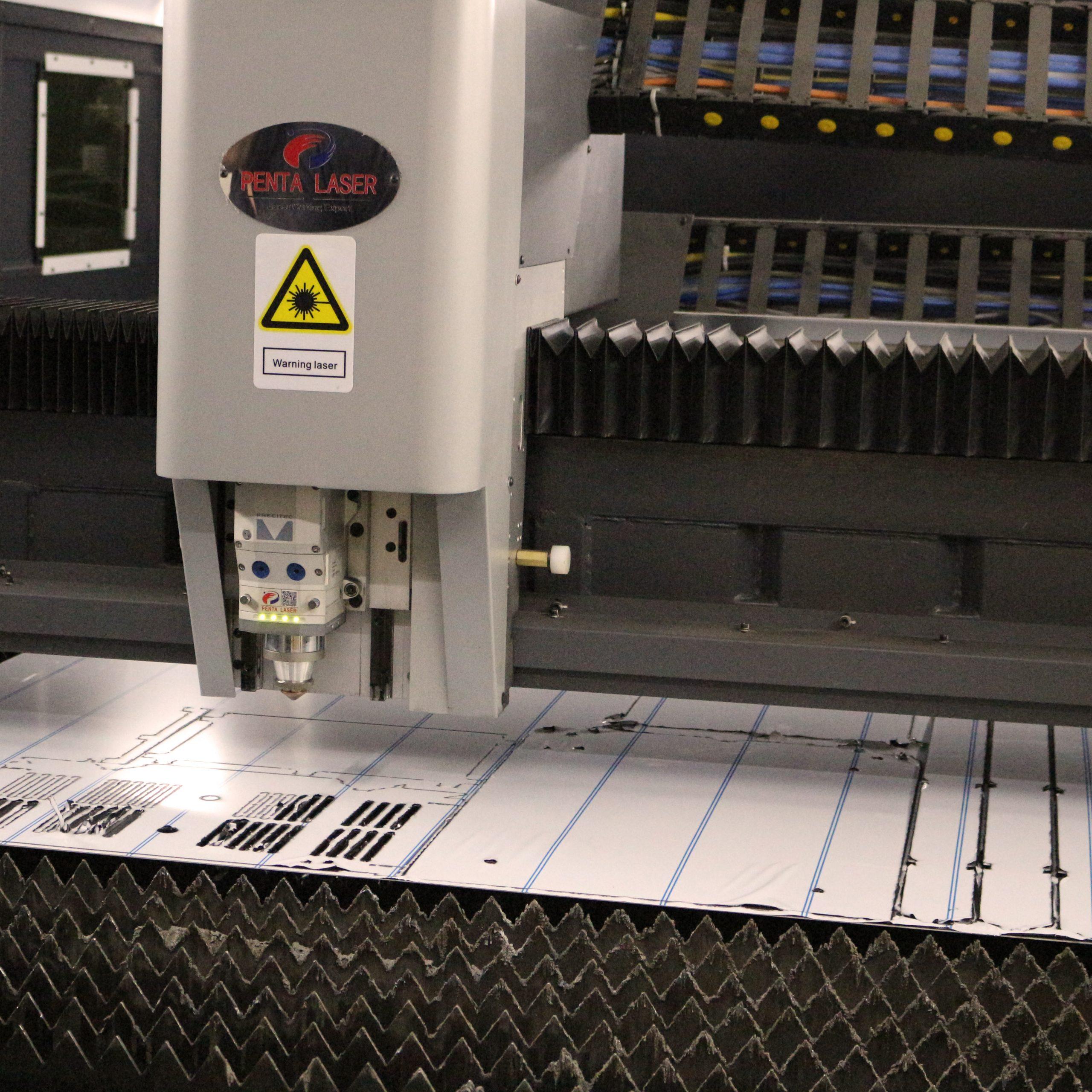 inside laser cutting machine
