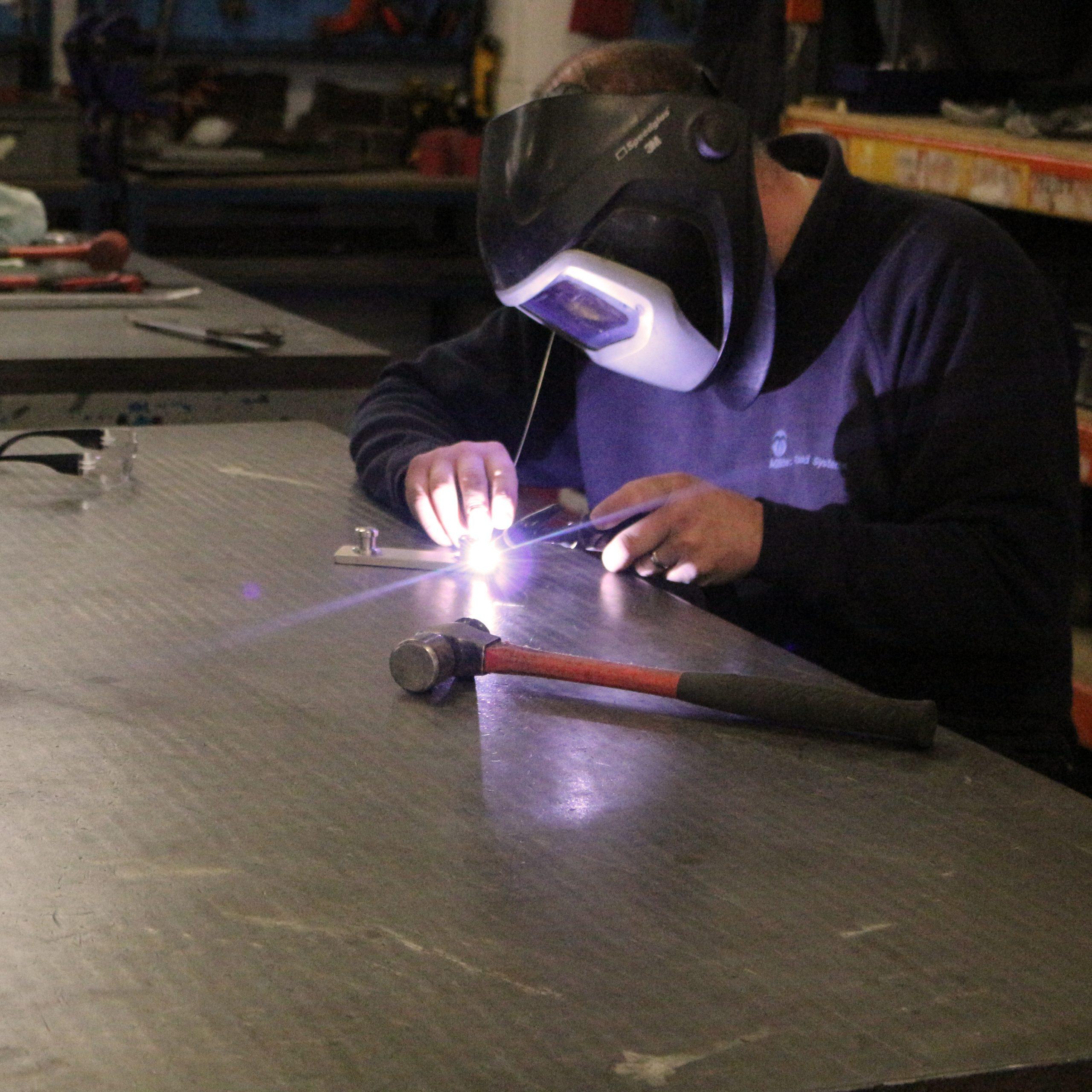 fabricator working