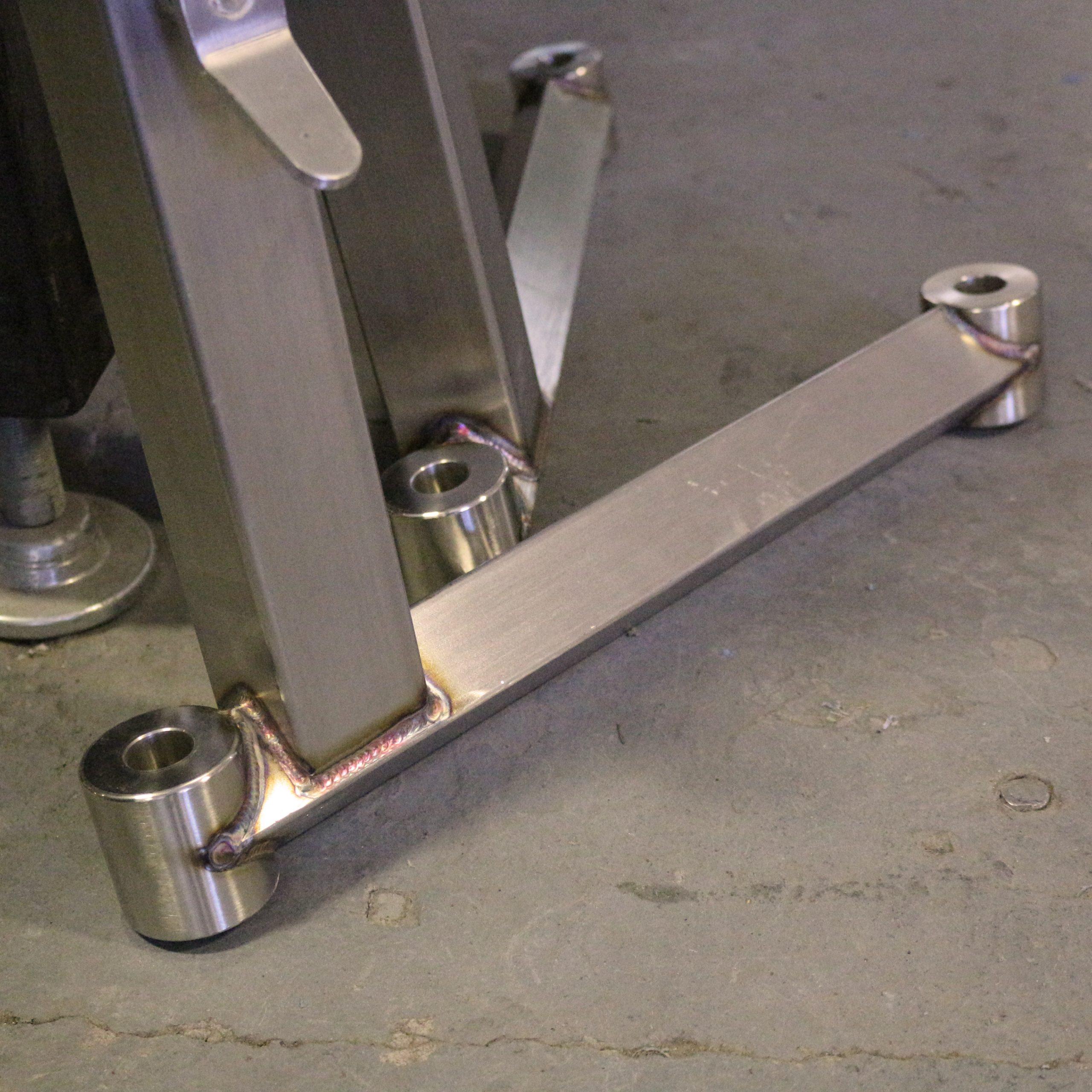 welded machine legs