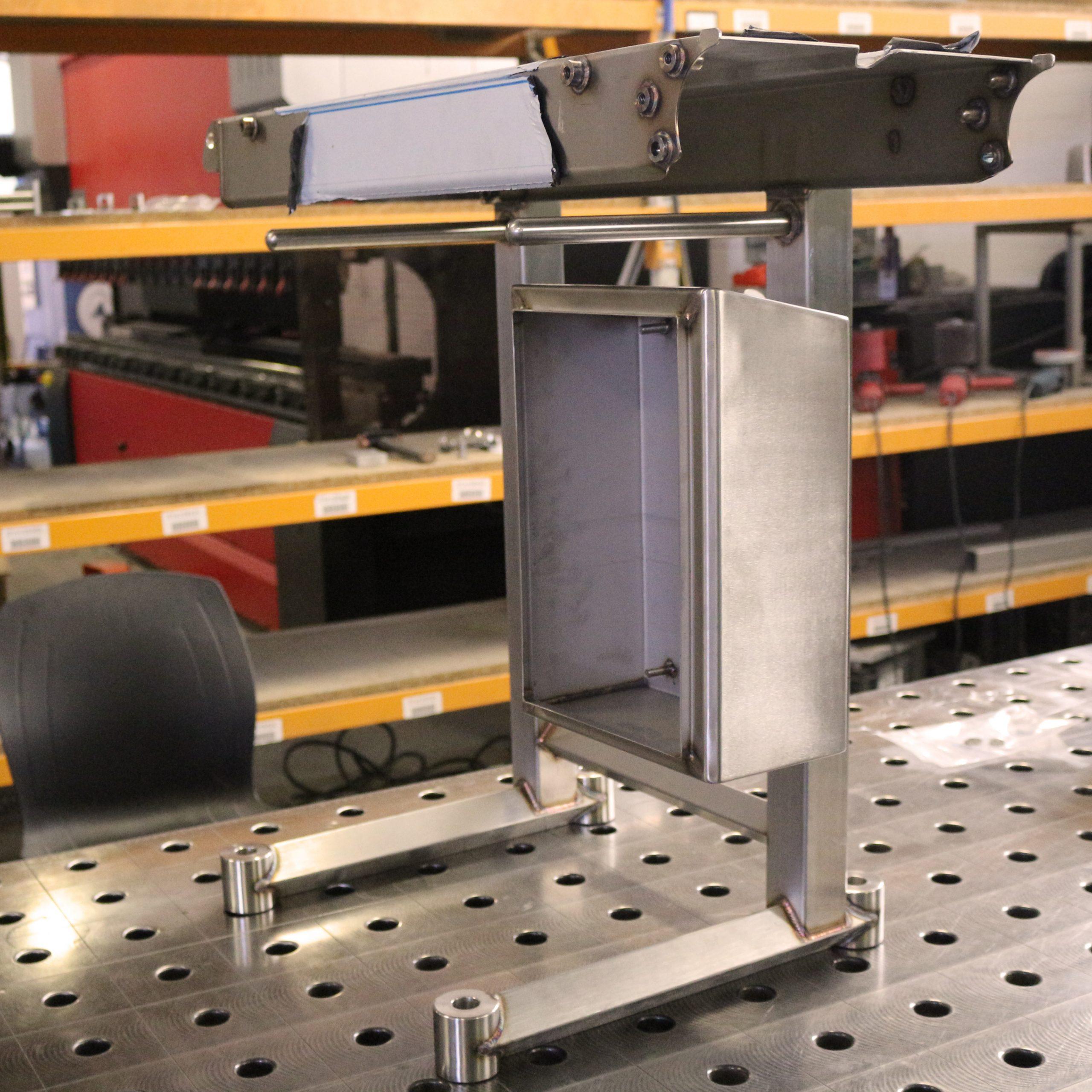 welded machine bed